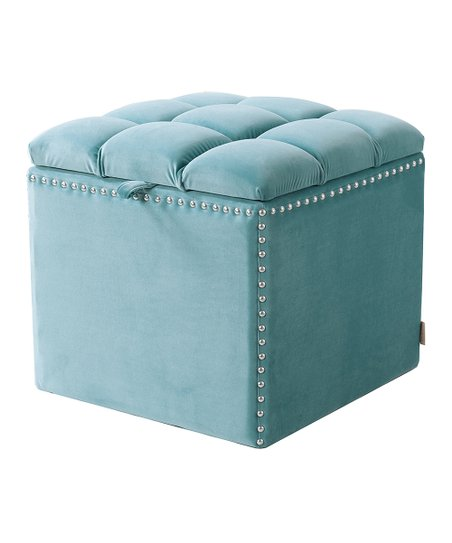 Wondrous Jennifer Taylor Home Light Blue Tufted Natalia Storage Gmtry Best Dining Table And Chair Ideas Images Gmtryco