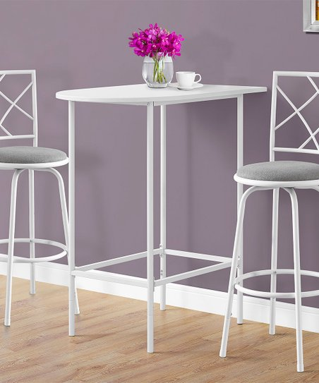 Monarch Specialties White Metal Bar Table  51f7be2c6a