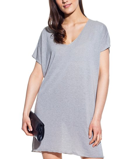 07168af4b96 love this product Silver Linen-Blend T-Shirt Dress