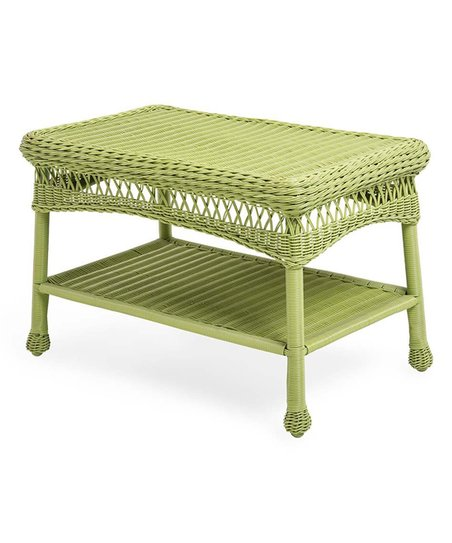 Astonishing Plow Hearth Green Wicker Coffee Table Ncnpc Chair Design For Home Ncnpcorg