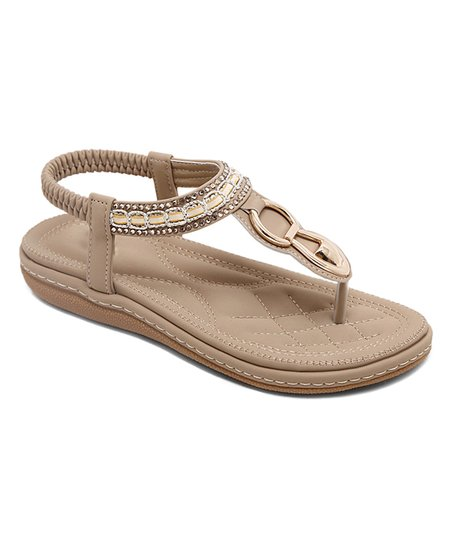 WomenZulily Sandal Link Siketu Apricot Beaded fYb76gy