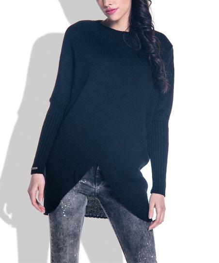 047a6c08855a Fobya Black Wrap Sweater - Women