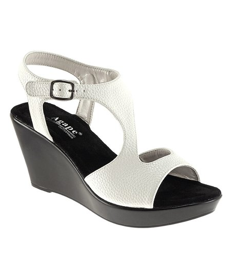 9052164a16c love this product White Pamela T-Strap Wedge Sandal - Women