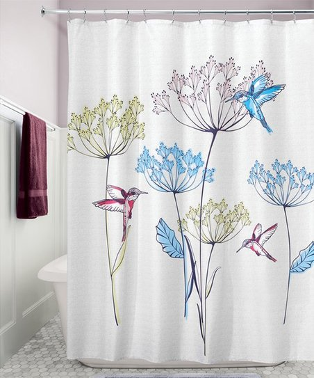 Love This Product White Hummingbird Shower Curtain