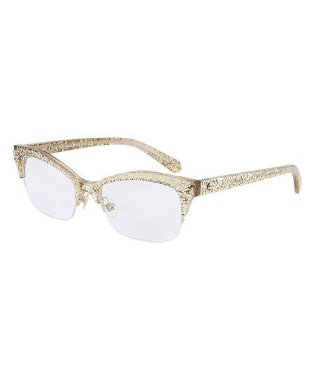 35f010a16e Kate Spade Gold Glitter Lyssa Eyeglasses