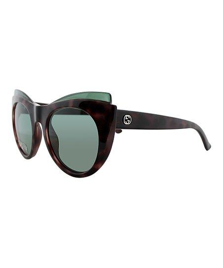 aa3336fe395 Gucci Havana   Pink Tortoise Cat-Eye Sunglasses
