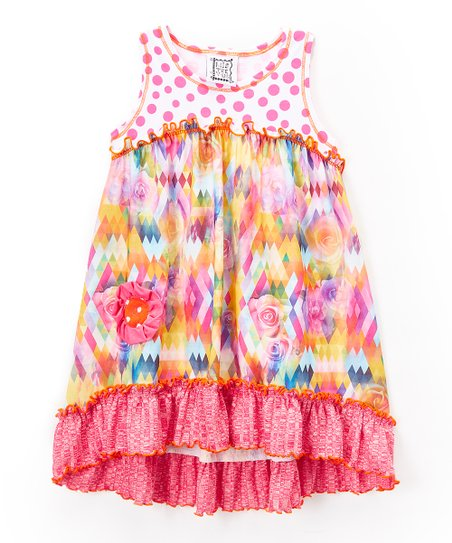 6f5941a5bd09a love this product Pink & White Floral Ruffle Babydoll Dress - Toddler &  Girls
