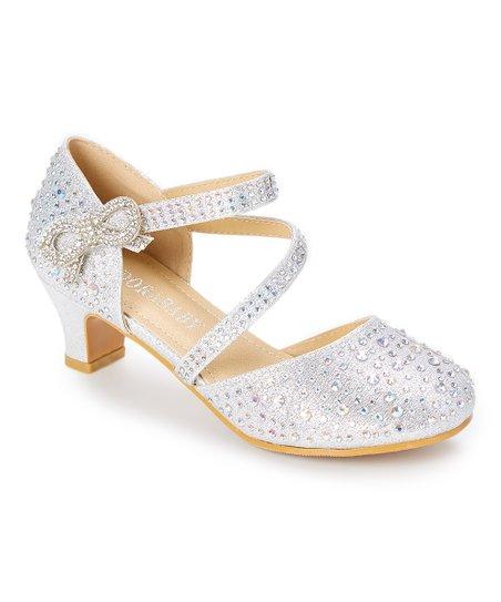 Adorababy Silver Cross-Strap Dress Shoe