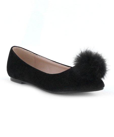 Makers Shoes Black Velvet City Flat Girls Zulily