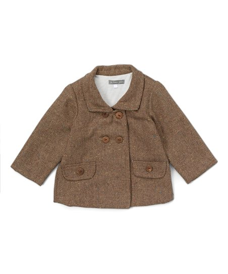 59fc9f3a3 Les Petits Soleils by Fantaisie Kids Brown Tweed Jacket - Toddler ...