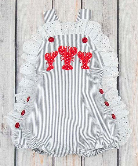 0b2974ff271 love this product Navy Stripe Lobster Olivia Bubble Romper - Infant    Toddler