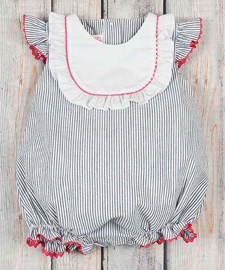 851f1c4d67d Stellybelly Navy Stripe Jordan Bubble Romper - Toddler