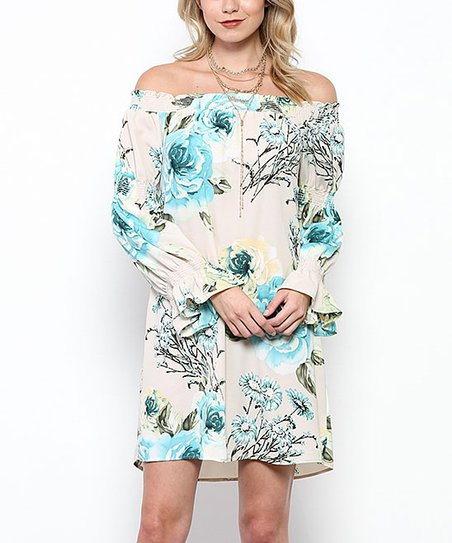 1dfc20c39c89 Ces femme Jade Floral Off-Shoulder Dress