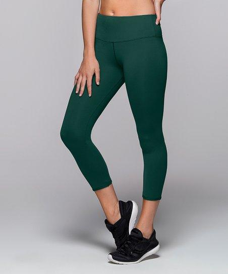 3c857eed09dd2 Lorna Jane Jade Green Shannon Core High-Waist 7/8 Leggings | Zulily