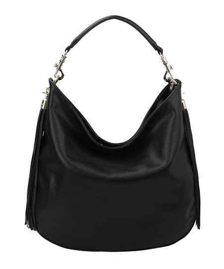 d79386f2d9ff Handbag Republic Black Fringe Hobo Bag