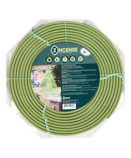 Z-Fence Green Citronella Insect Repellent Hanging Spiral