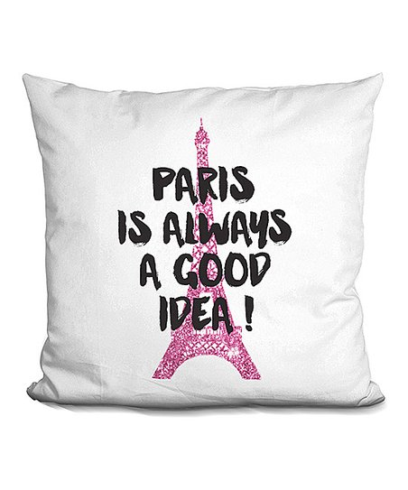 Lilipi Amanda Greenwood Pink Paris Is Always A Good Idea Throw