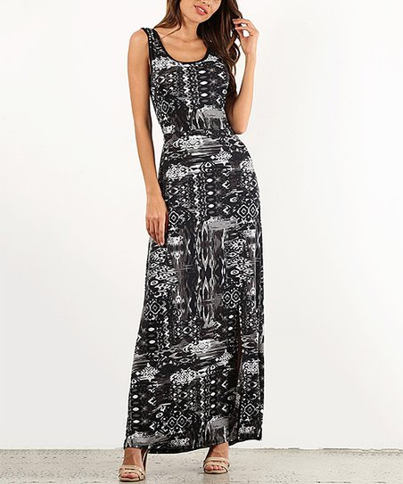Pretty Young Thing Black Gray Cross Strap Open Back Maxi Dress