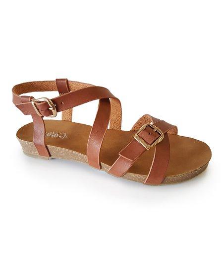 4e386df2dd8 love this product Brown Buckle Crisscross Whisper Sandal