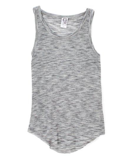 f0da0e035c87c love this product Gray Rib Tank - Girls
