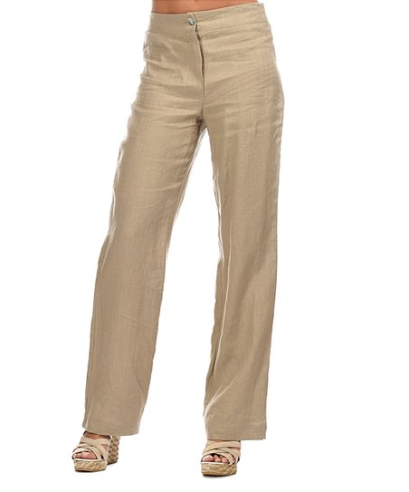 916049bb24c love this product Taupe Nade Linen Pants