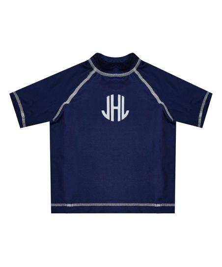 love this product Navy Monogram Short-Sleeve Rashguard - Infant 2daf80145