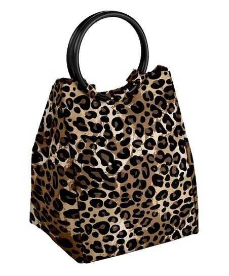 Fit Fresh Leopard Print Lauren Insulated Lunch Bag