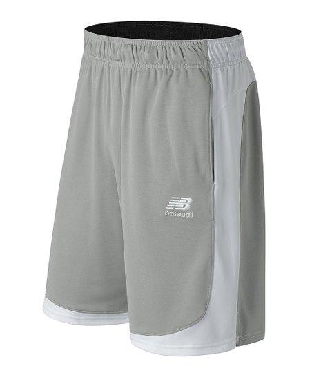 New Balance Light Gray Total Baseball Training Shorts - Men  ef9395c50
