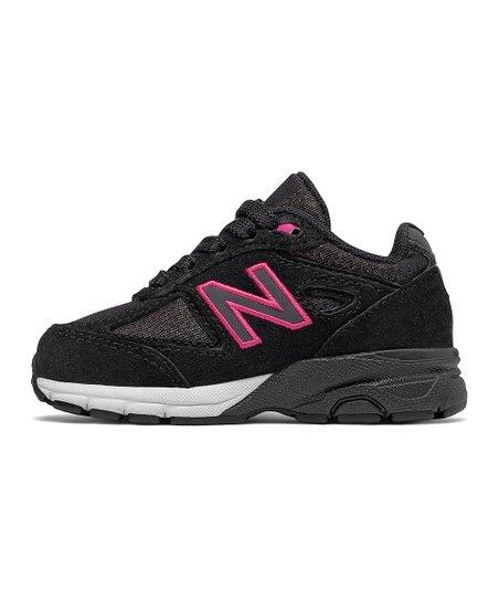cheaper 25780 08d80 New Balance Black & Pink 990 Running Shoe - Toddler