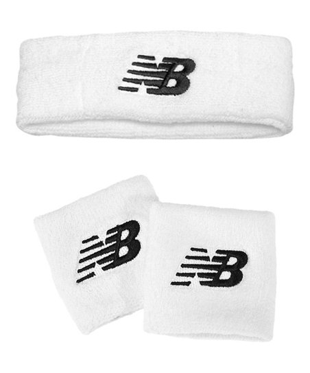 New Balance White and Black Sweatband Set   Best Price and Reviews ...