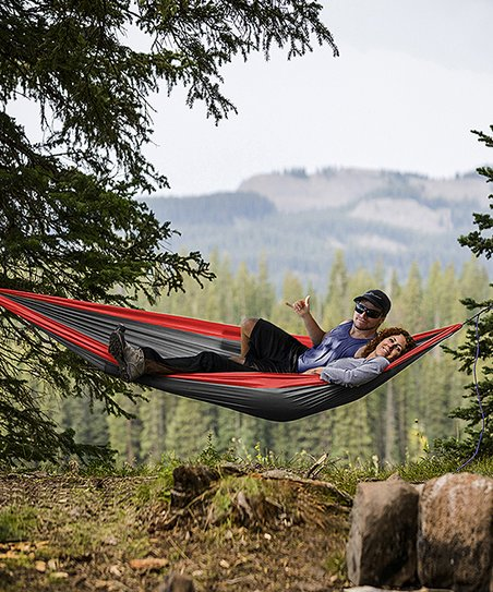Red Two Person Portable Hammock