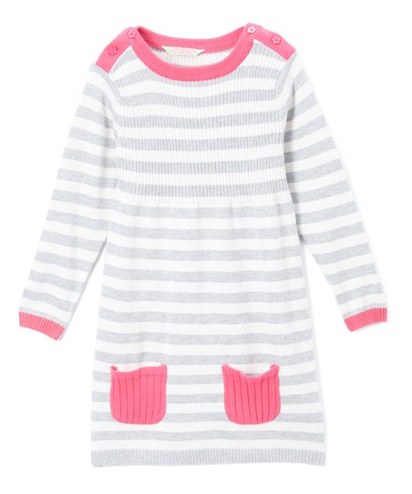 bbb8c654bd Sophie   Sam Gray   Pink Stripe Sweater Dress - Infant   Girls
