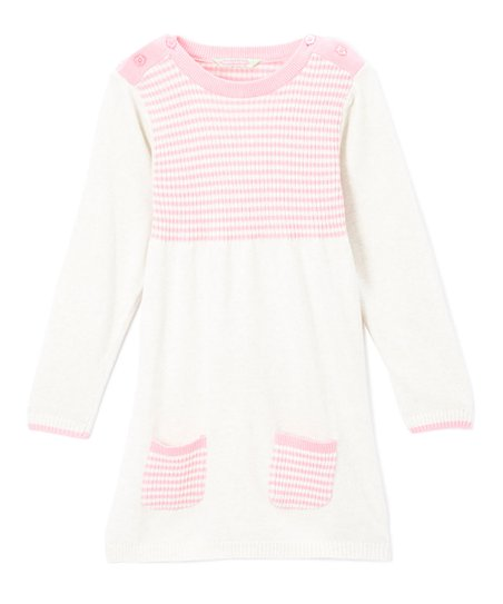 1e95fc6922 love this product Pink   Cream Stripe Sweater Dress - Infant   Toddler