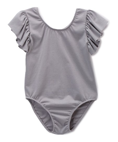 e411cf43e Bride and Babies Gray Ruffle-Sleeve Leotard - Infant