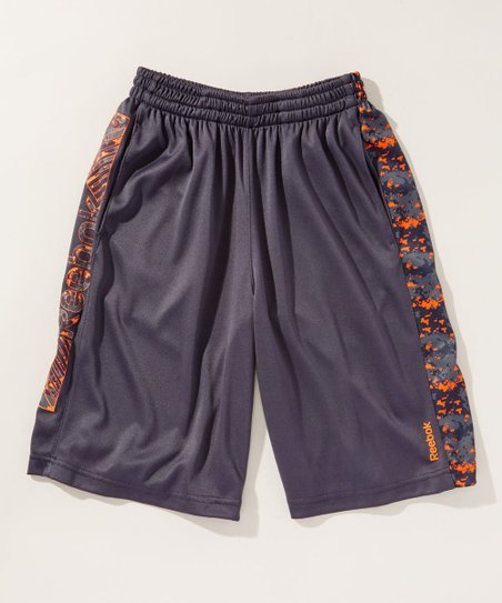 a2e96347e013 Reebok Echo Gray Pixel-Accent Shorts - Boys