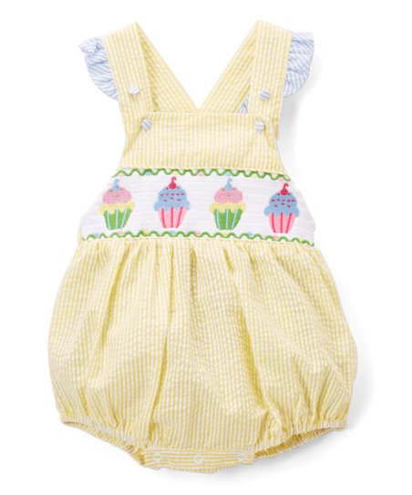 98b50a7c8fe love this product Yellow Cupcake Smocked Bubble Romper - Infant   Toddler