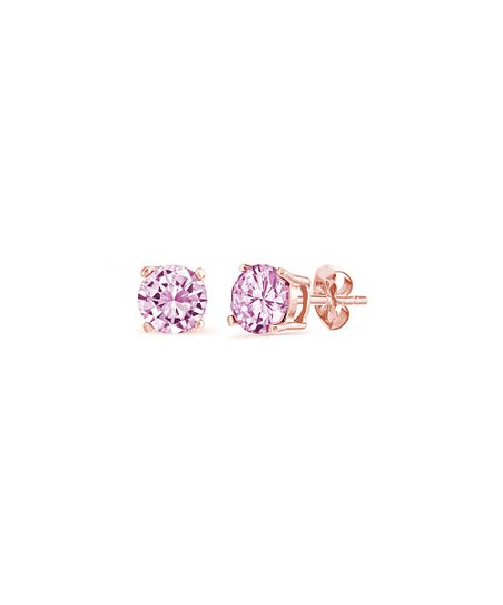4be20ccc404 love this product Pink Sapphire   Rose Gold Stud Earrings