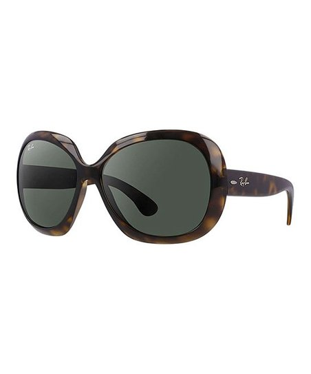 96cdcc3505 Ray-Ban Brown Tortoise   Green Jackie Ohh II Oversize Sunglasses ...