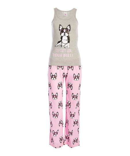 062a41fafba5 Sleep   Co Gray Too Cute for Your Bull Pajama Pants Set