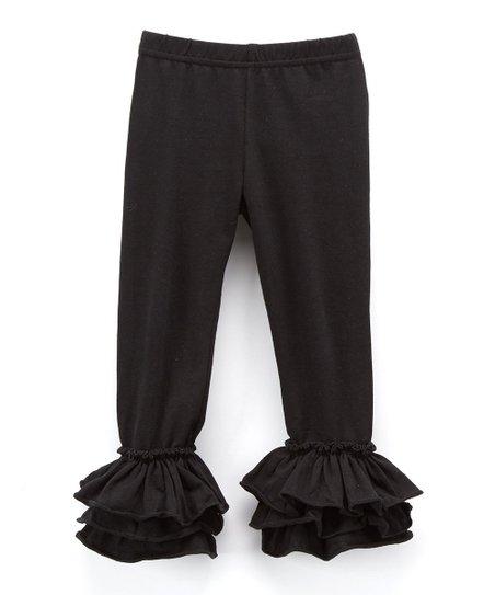 6756c39de7402 Ava Grace Boutique Black Ruffle Leggings - Infant, Toddler & Girls