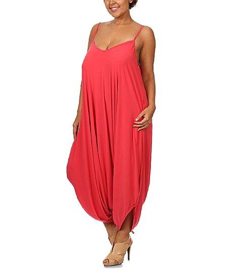 26df036c017d love this product Coral Harem Jumpsuit - Plus