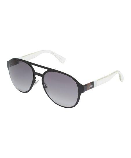 b6138ce62a love this product Black   White Aviator Sunglasses - Women