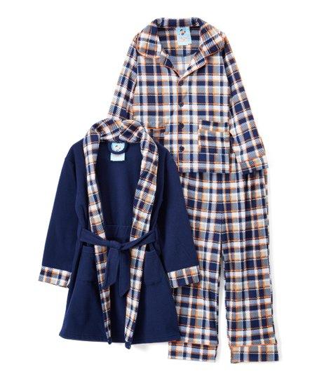 148c305529 love this product Navy   Plaid Pajama Set   Robe - Toddler   Boys