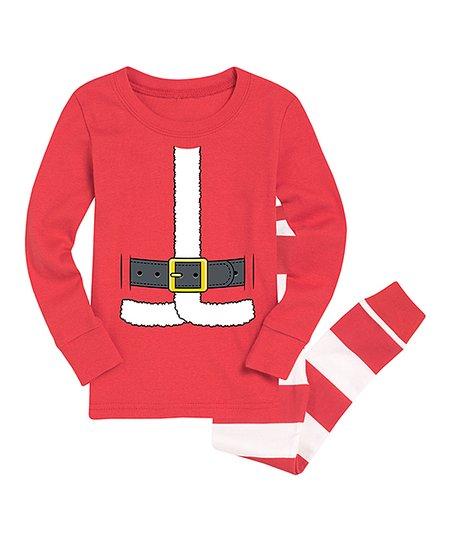 edc60231f Nap Chat Family Red Santa Claus Suit Pajama Set - Toddler & Boys ...