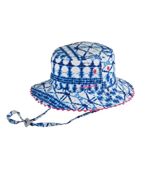 love this product Blue Tie-Dye Reversible Bucket Hat - Toddler   Girls 44ac7d41180