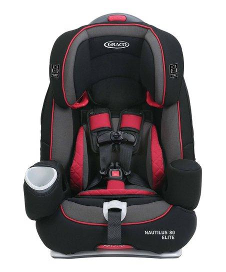Red Black Nautilus Elite 3 In 1 Harness Booster Car Seat