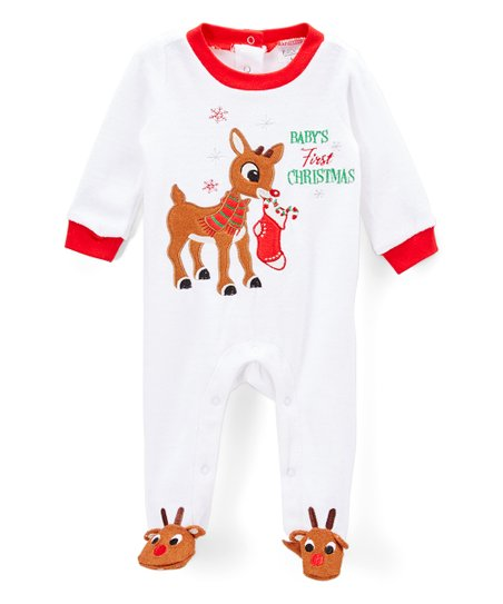 43f6f0c7e7f love this product Rudolph White  First Christmas  Footie Pajamas - Infant