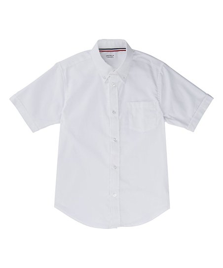 French Toast White Short Sleeve Button Up Toddler Boys Zulily