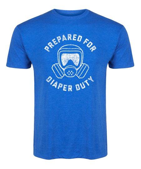 b226fb5ef love this product Royal Blue 'Prepared For Diaper Duty' Tee - Men's Regular