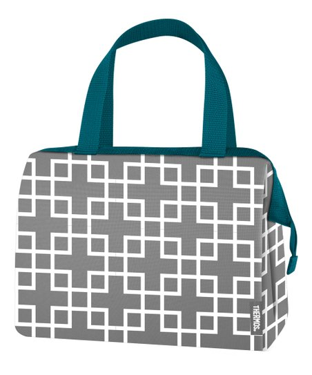 Teal Geometric Raya Lunch Bag